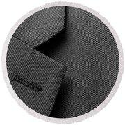 Suit Texture Round Beach Towel