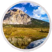 Sukakpak Reflection Round Beach Towel