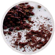 Sumac Spices Round Beach Towel