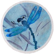 Sumi Dragonfly Round Beach Towel by Beverley Harper Tinsley