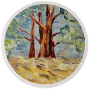 Summer Afternoon Round Beach Towel