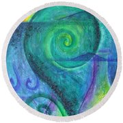 Round Beach Towel featuring the painting Summer Aotearoa by Jocelyn Friis