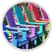 Summer Beach Chairs Round Beach Towel