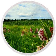 Round Beach Towel featuring the photograph Summer Breeze by Zafer Gurel