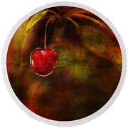 Summer Cherries 1 Round Beach Towel