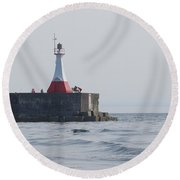 Round Beach Towel featuring the photograph Summer Day by Marilyn Wilson