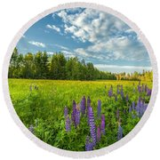 Round Beach Towel featuring the photograph Summer Dream by Rose-Maries Pictures