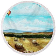 Summer Flight 3 Round Beach Towel
