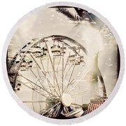 Round Beach Towel featuring the photograph Summer Fun by Trish Mistric