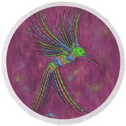 Summer Hummer Round Beach Towel by Susie WEBER