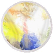 Summer II Round Beach Towel