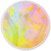 Round Beach Towel featuring the photograph Summer Joy Abstract by Judy Palkimas
