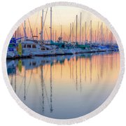 Summer Light Round Beach Towel