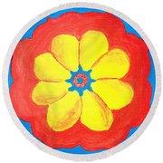 Summer Mandala Round Beach Towel
