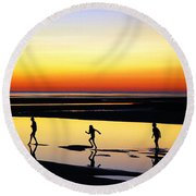Round Beach Towel featuring the photograph Summer Memories by James Kirkikis