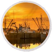 Round Beach Towel featuring the photograph Summer Nights by Garvin Hunter