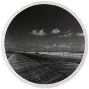 Summer Noir Round Beach Towel