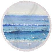 Summer Seascape Round Beach Towel by Jan Matson