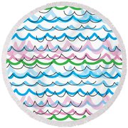 Summer Seaside  Round Beach Towel