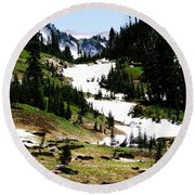 Summer Snow Round Beach Towel