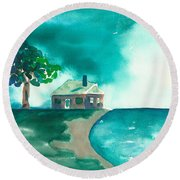 Summer Storm Round Beach Towel by Frank Bright