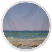 Summer Storm Tidepools Round Beach Towel