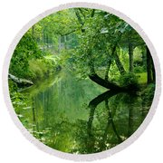 Summer Stream Round Beach Towel