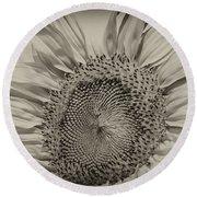 Summer Sunflower Round Beach Towel by Wilma  Birdwell