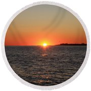 Summer Sunset Round Beach Towel by John Telfer