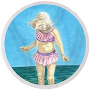 Summer Round Beach Towel by Troy Levesque