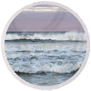Summer Waves Seaside New Jersey Round Beach Towel