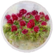 Summer's Blush Round Beach Towel by Colleen Taylor