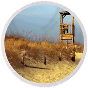 Summer's Over Round Beach Towel