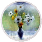 Summerstorm Still Life Round Beach Towel by RC deWinter