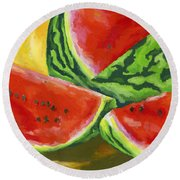 Summertime Delight Round Beach Towel