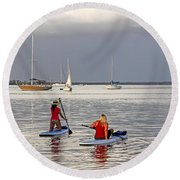 Round Beach Towel featuring the photograph Summertime Fun by HH Photography of Florida