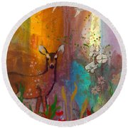 Sun Deer Round Beach Towel
