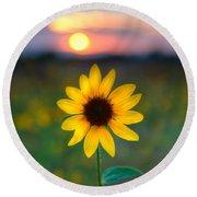 Sun Flower Iv Round Beach Towel