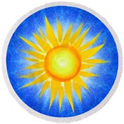 Sun Flower Round Beach Towel by Tim Gainey