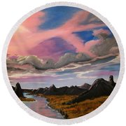 Arizona Sunrise  Round Beach Towel