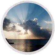 Sun Rays Round Beach Towel