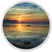 Sun Reflection Round Beach Towel