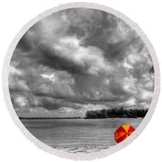 Sun Shade Round Beach Towel by HH Photography of Florida