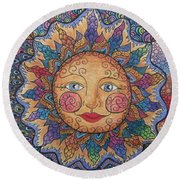 Sun Tangle 2 Round Beach Towel