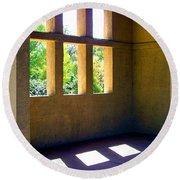 Sun Thru Windows Adobe Architecture Round Beach Towel