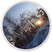 Round Beach Towel featuring the photograph Sunbeam by Robert Nickologianis