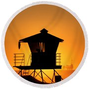 Sunburst Round Beach Towel