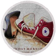Round Beach Towel featuring the photograph Sunday Morning by Don Pedro De Gracia