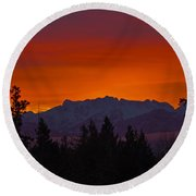 Sundown Round Beach Towel