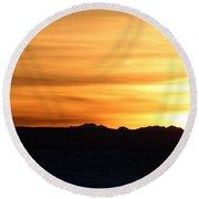Sundre Sunset Round Beach Towel